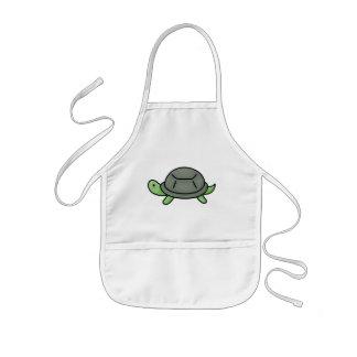 La tortue badine le tablier