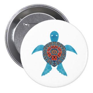 La tortue de mer tribale badges