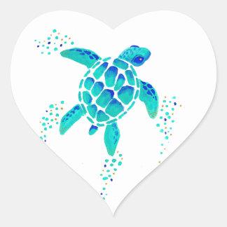 La tortue de Neptune Sticker Cœur