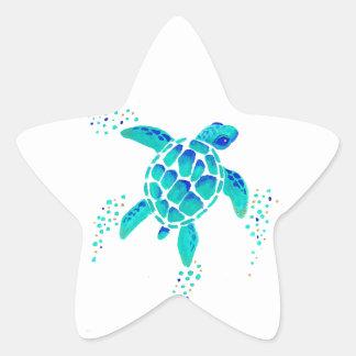La tortue de Neptune Sticker Étoile