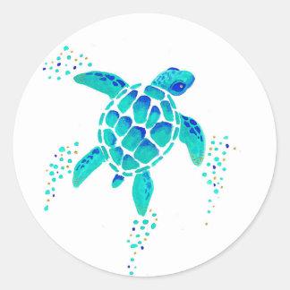 La tortue de Neptune Sticker Rond
