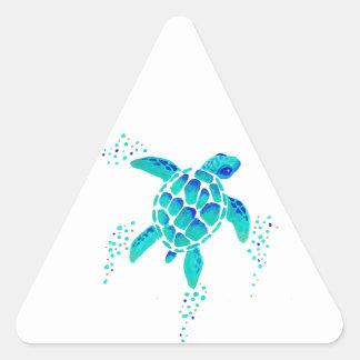 La tortue de Neptune Sticker Triangulaire