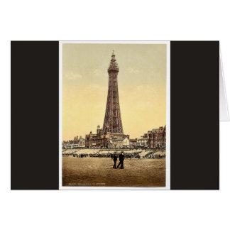 La tour, classique Photochrom de Blackpool, Carte De Vœux
