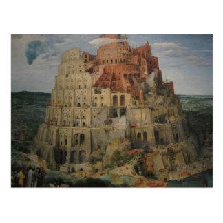 La tour de Bruegel de Babel Carte Postale