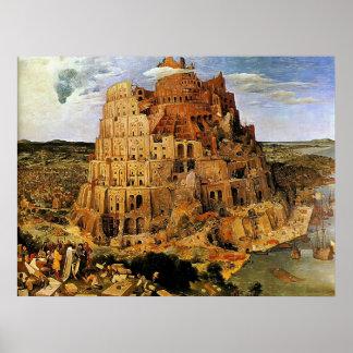 """La tour de Pieter Bruegel """"de Babel"""" (circa 1563) Posters"""