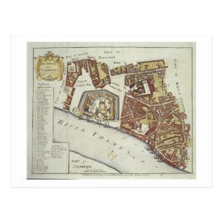 La tour et le St Catherine pour la enquête de l Carte Postale