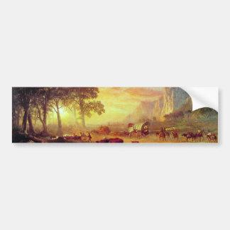 La traînée de l'Orégon - Albert Bierstadt Autocollant Pour Voiture