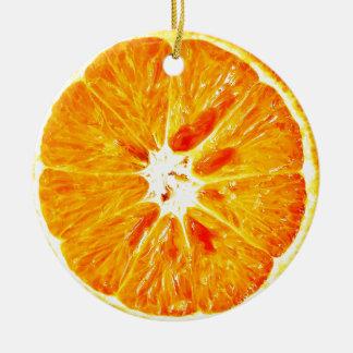 La tranche orange Dble-a dégrossi ornement