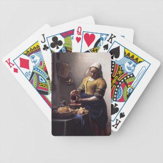 La trayeuse par Johannes Vermeer Jeux De 52 Cartes