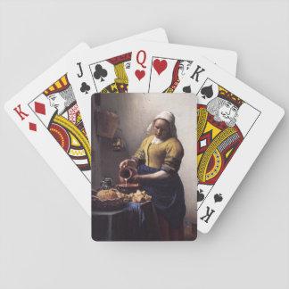 La trayeuse par Johannes Vermeer Jeux De Cartes Poker