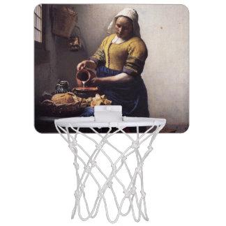 La trayeuse par Johannes Vermeer Mini Panneaux De Baskets