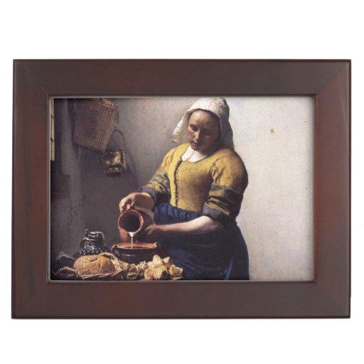 La trayeuse par Johannes Vermeer Boîte À Souvenirs