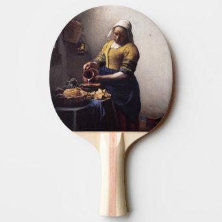 La trayeuse par Johannes Vermeer Raquette Tennis De Table