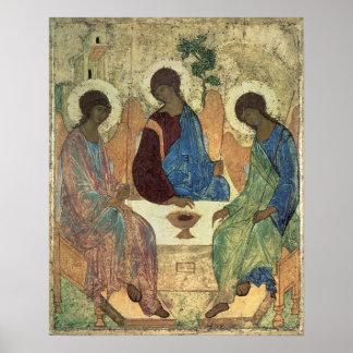 La trinité sainte, 1420s (tempera sur le panneau) poster