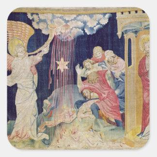La troisième trompette et l'étoile d'absinthe sticker carré
