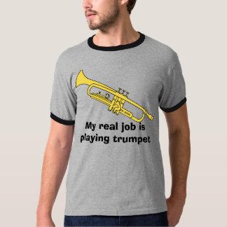 la trompette, mon vrai travail joue la trompette t-shirt