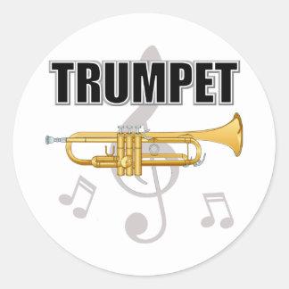 La trompette note des autocollants