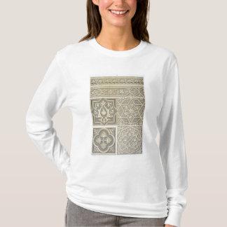 La tuile arabe conçoit (le litho de couleur) t-shirt