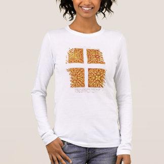 La tuile du 13ème siècle conçoit, illustration de t-shirt à manches longues