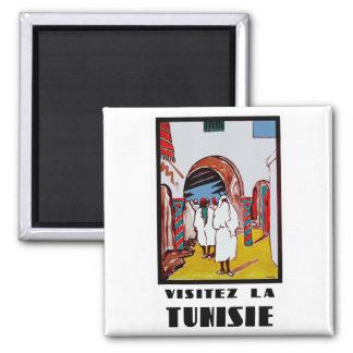 La Tunisie de Visitez Magnet Carré