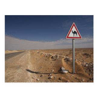 La Tunisie, région de Ksour, Ksar Ghilane, oléoduc Carte Postale