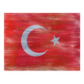La Turquie a affligé le drapeau turc Carte Postale