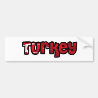 La Turquie Autocollant Pour Voiture