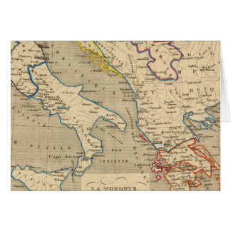 La Turquie, La Grece et l'Italie De 1700 un 1840 Carte De Vœux