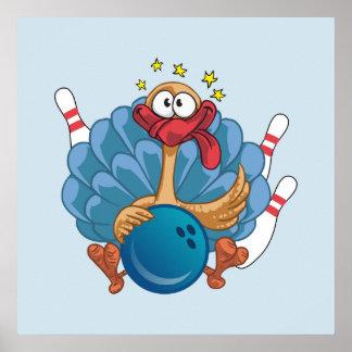 La Turquie sauvage de roulement avec la boule et Poster