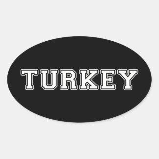 La Turquie Sticker Ovale
