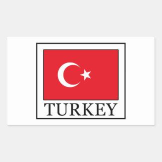 La Turquie Sticker Rectangulaire