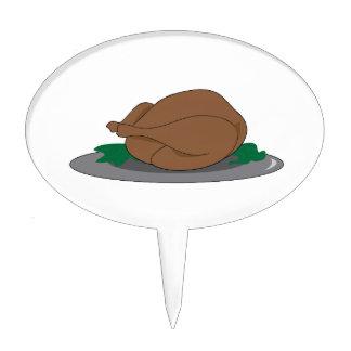 La Turquie sur le plateau Piques À Gâteau