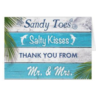 La turquoise Sandy botte le carte de remerciements