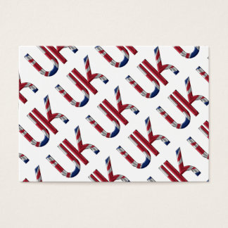 La typographie britannique BRITANNIQUE de drapeau Cartes De Visite