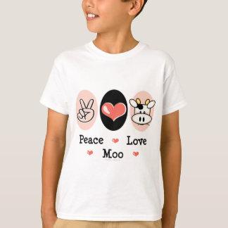 La vache à MOO d'amour de paix badine le T-shirt