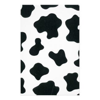 La vache design papier à lettre customisé
