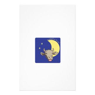 La vache sautée au-dessus de la lune ! papier à lettre personnalisé