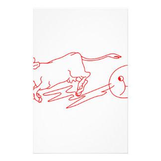 La vache sautée motifs pour papier à lettre