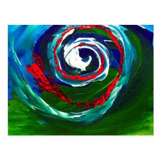 La vague en spirale de l'infini carte postale