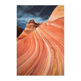 La vague, falaises vermillonnes, Arizona Art Mural En Acrylique