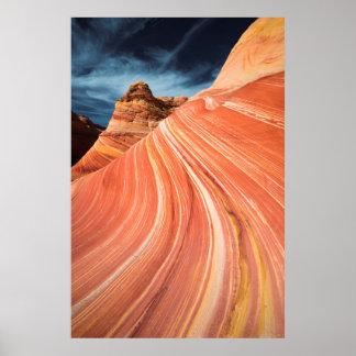 La vague, falaises vermillonnes, Arizona Poster