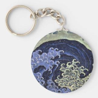 La vague féminine de Hokusai Porte-clé Rond