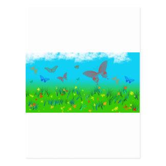 La valse des papillons carte postale