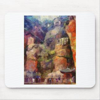 La van Gogh-Leshan-Géant-Bouddha-dans-Chine Tapis De Souris