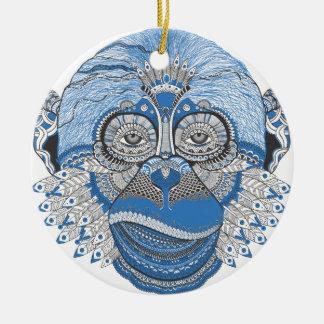 la veille de la nouvelle année s de singe de motif ornement rond en céramique
