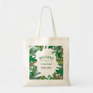 La verdure part de l'accueil d'événement de sacs fourre-tout
