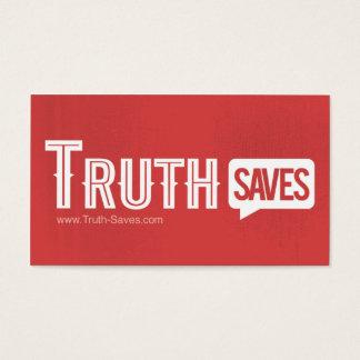 La vérité sauve des cartes