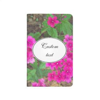 La verveine assez rose fleurit la photo florale carnet de poche