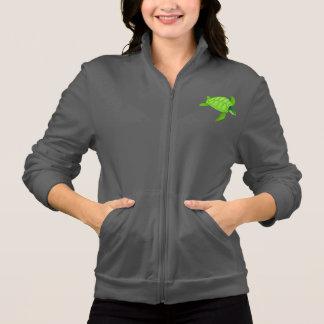 La veste des femmes de tortue de mer verte