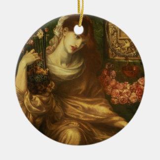 La veuve romaine, 1874 (huile sur la toile) ornement rond en céramique